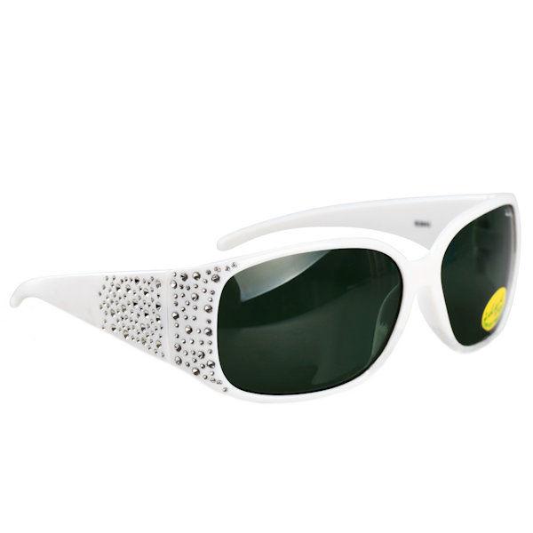 Kids I - IE3043 White girls sunglasses G-15 lens