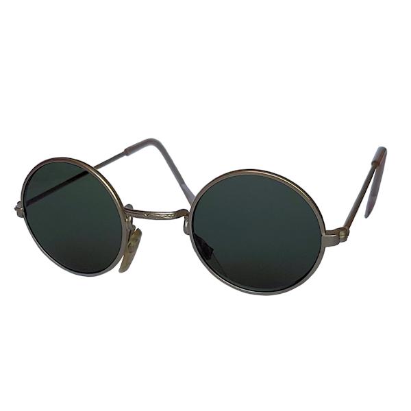 IE 059 Antique silver, Classic metal round sunglasses