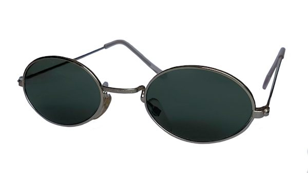 IE 054 Silver, Classic metal oval sunglasses