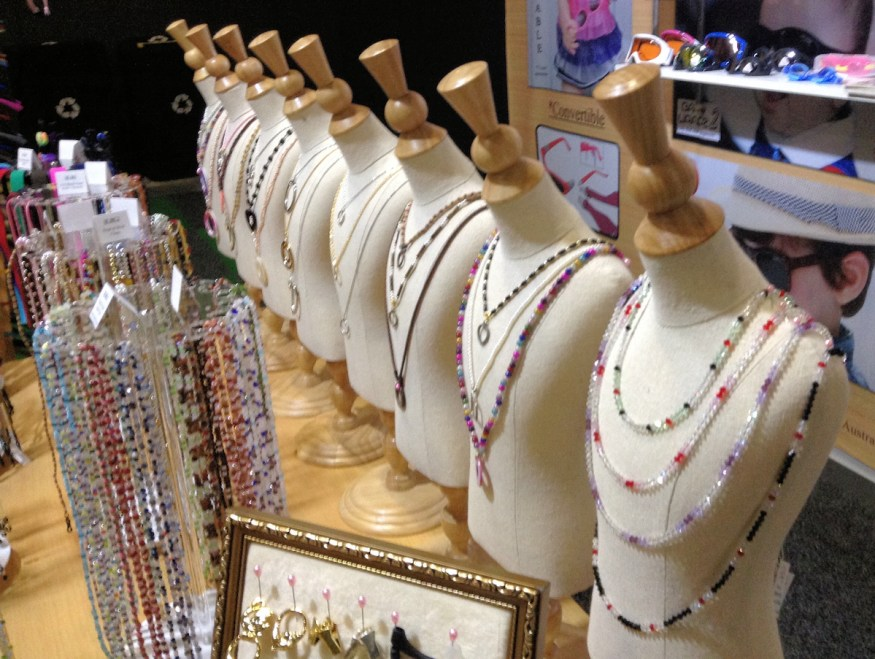 Spectacle Accessories - Display of pendants and bead chains to hold sunglasses and spectacles.