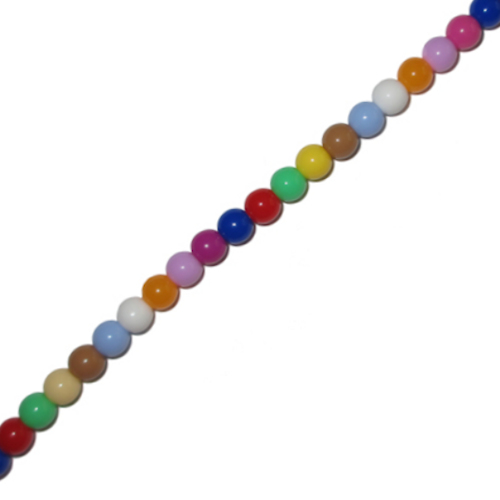 IEBEK Girls Rainbow Candy Pearls Bead Spectacle Chain