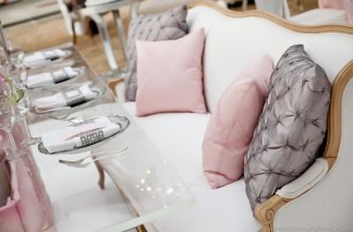 I Do Linens Silver Button Rose Pillows