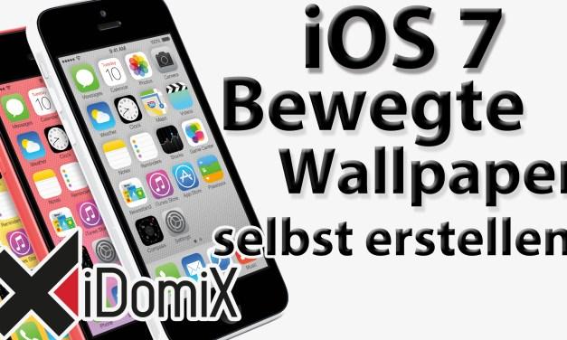 Bewegte Hintergrundbilder für iOS 7 selbst erstellen (Parallax Effekt)