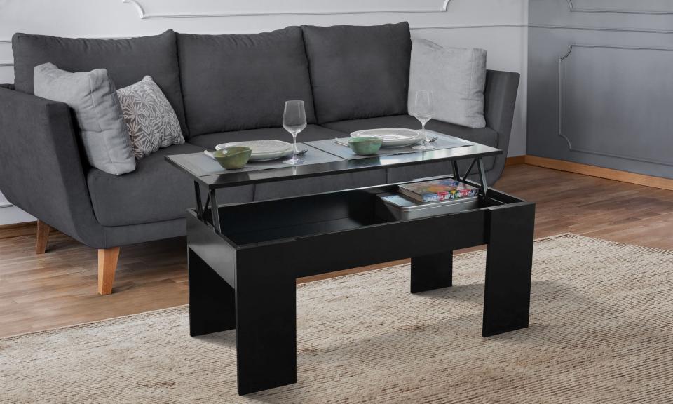 table basse de salon avec plateau relevable petit modele salva