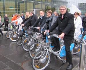 EU Cycling Summit Ministers Ride
