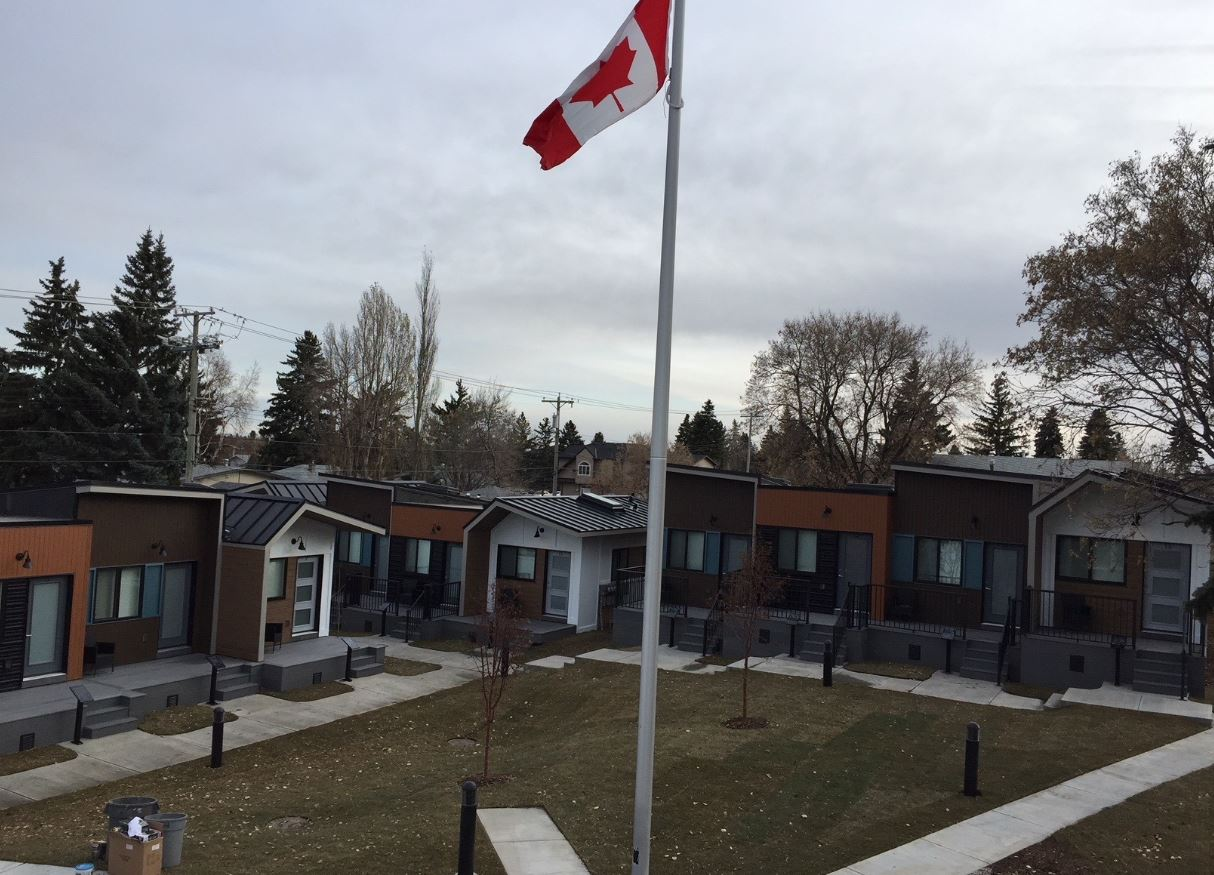 Canada tiny home village for veterans