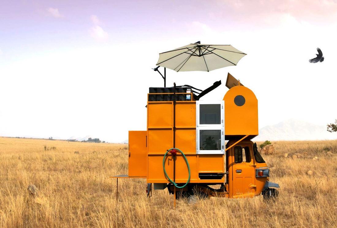 Auto Rickshaw camper
