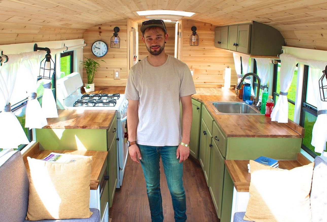 Types of Tiny Houses - School bus conversion