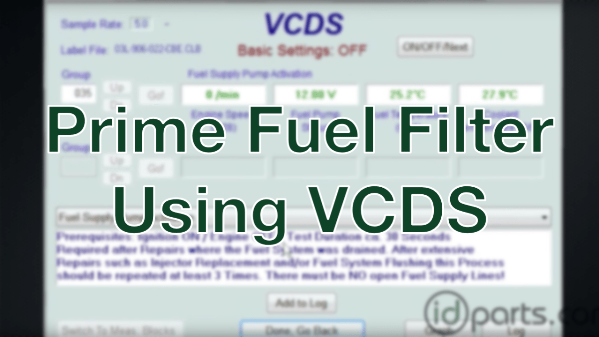 Prime Tdi Fuel Filter With Vcds Diesel News Info And Guides 2006 Chevy Colorado Replacement