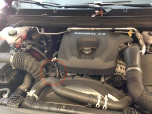Duramax LWM Oil Filter Location