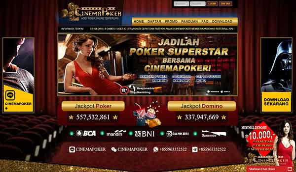 Cinemapoker - Daftar DominoQQ Online Server PKV Games Terpercaya