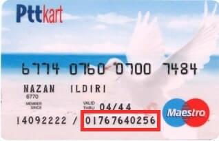 Ptt kart müşteri numarası nerede yazar