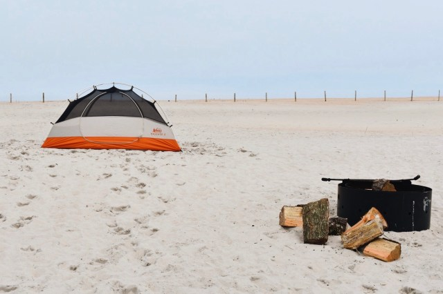 Camping on the beach at Assateague Island National Seashore