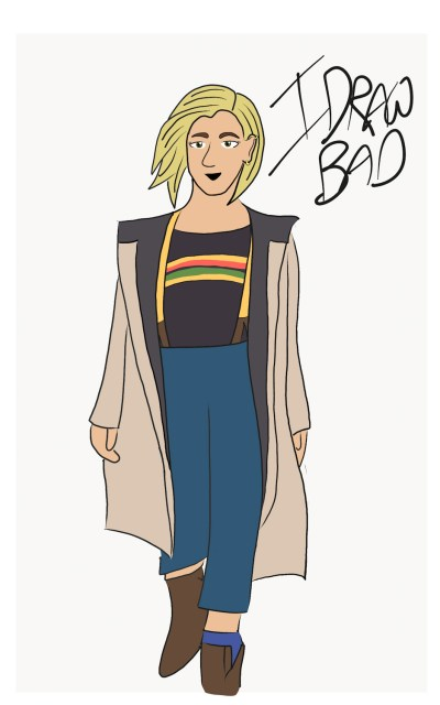 13th Doctor Jodie Whittaker digital drawing