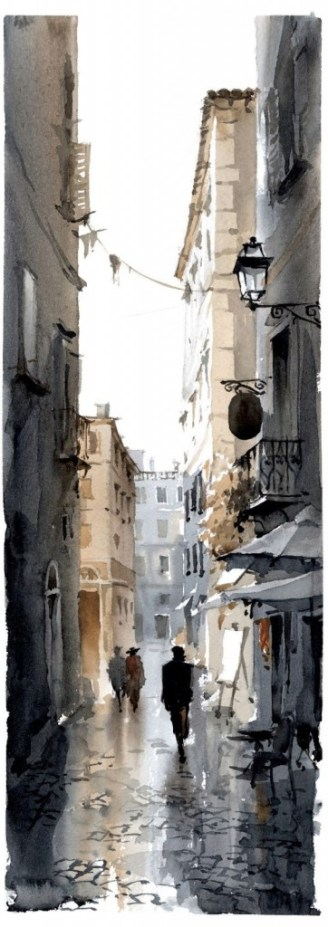 Igor-Sava-watercolor-old-street-2-362x1024