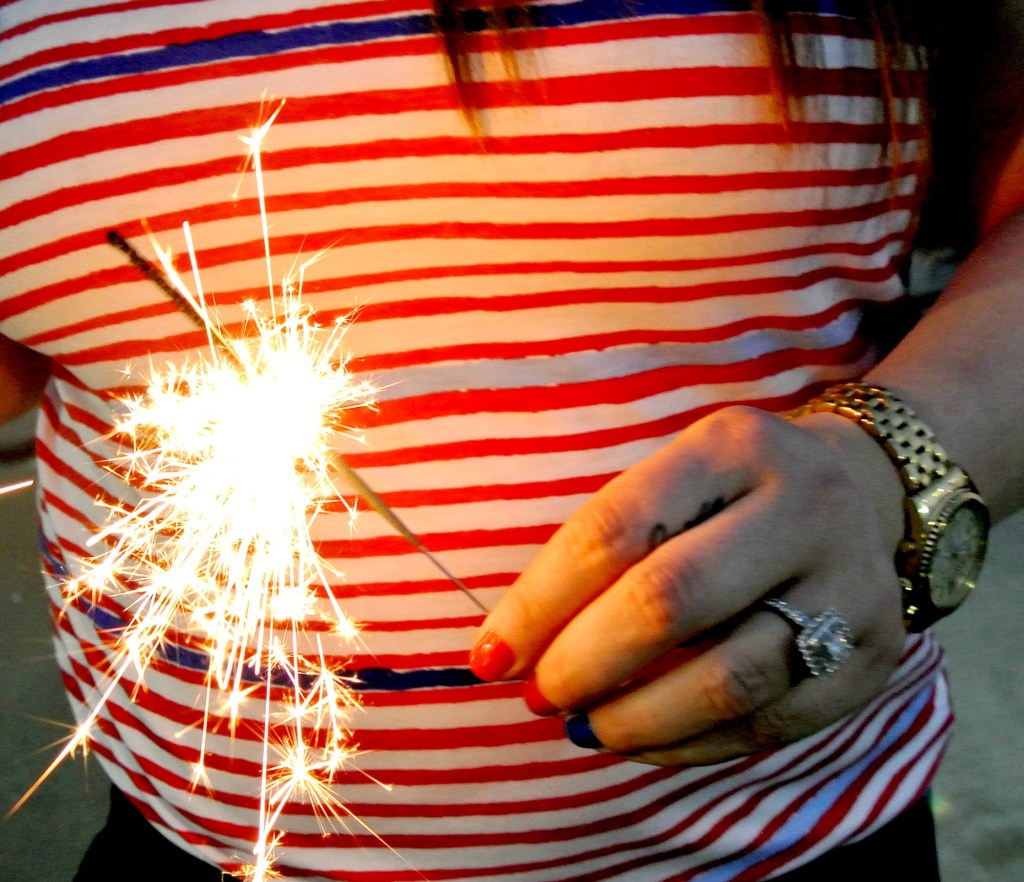 sparklers, Fourth of July, Fab Five, Fashion blog, lifestyle blog