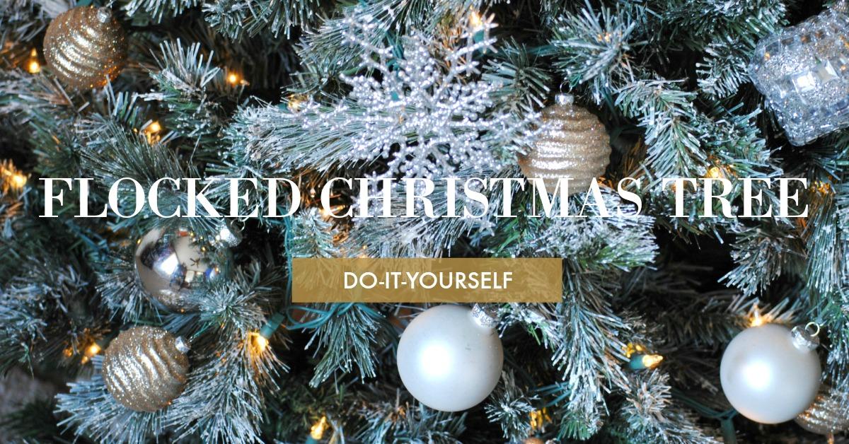 Diy flocked christmas tree i dream in chic diy flocked christmas tree solutioingenieria Gallery