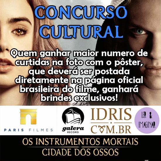 Promoção cultural em parceria com a Paris Filmes, Galera Record, Idris Brasil e Ler e Imaginar