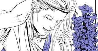 Nova art na linguagem das flores: Emma Carstairs