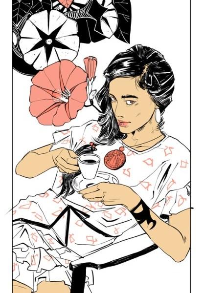 Nova art na linguagem das flores: Cristina Rosales