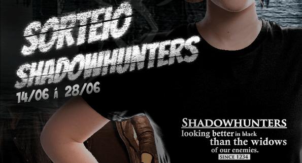 "Promoção Idris BR + Holics camisa ""Shadowhunters looking better in black""!"