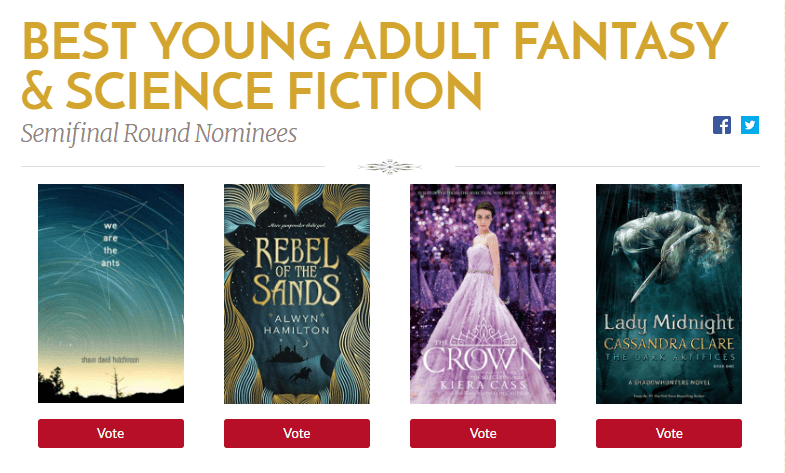 """Dama da meia-noite"" é semifinalista do Goodreads Choice Awards 2016!"