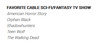 "[ATUALIZADO] ""Shadowhunters"" indicada ao People's Choice Awards 2017!"