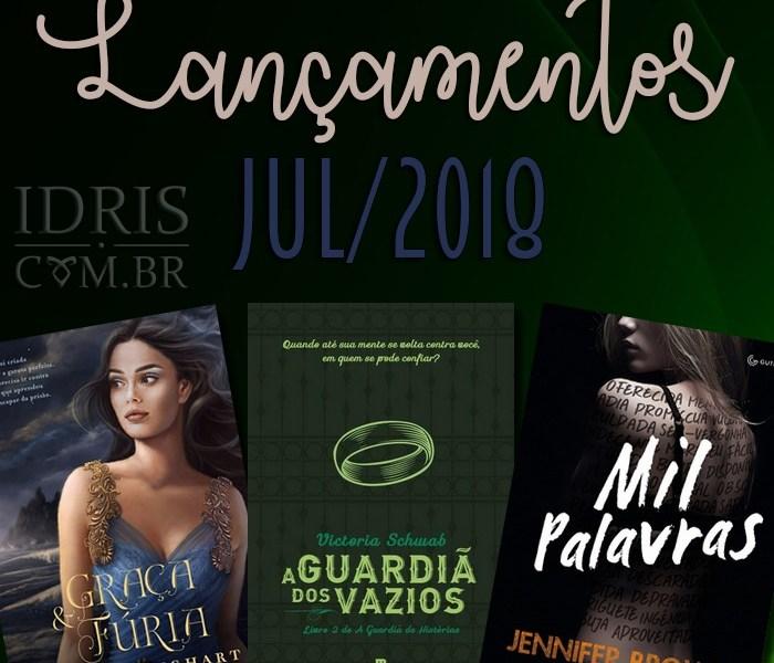 Lançamentos literários brasileiros: Julho/2018