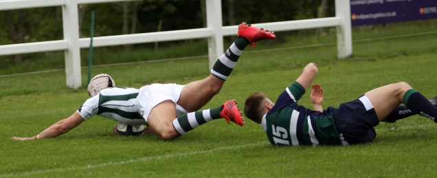 Wimborne fly half Tom Moysey goes over for a try for Dorset & Wilts. https://idrismartin.wordpress.com/
