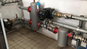 impianto centrale termica supermercato manutenzione regolare caldaia