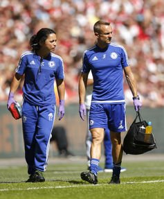 Eva Carneiro (left) is suing her former employer, Chelsea Football Club. Reuters