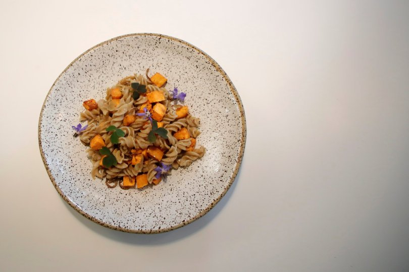 A dish made with mealworms and cooked by French chef Laurent Veyet is seen in his restaurant Inoveat serving insect-based food in Paris, France, May 12, 2021. (Reuters Photo)