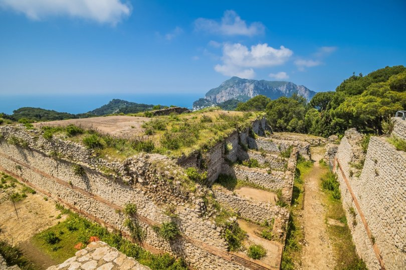 The famous Villa Jovis can be seen on the island of Capri, Italy. (Shutterstock Photo)