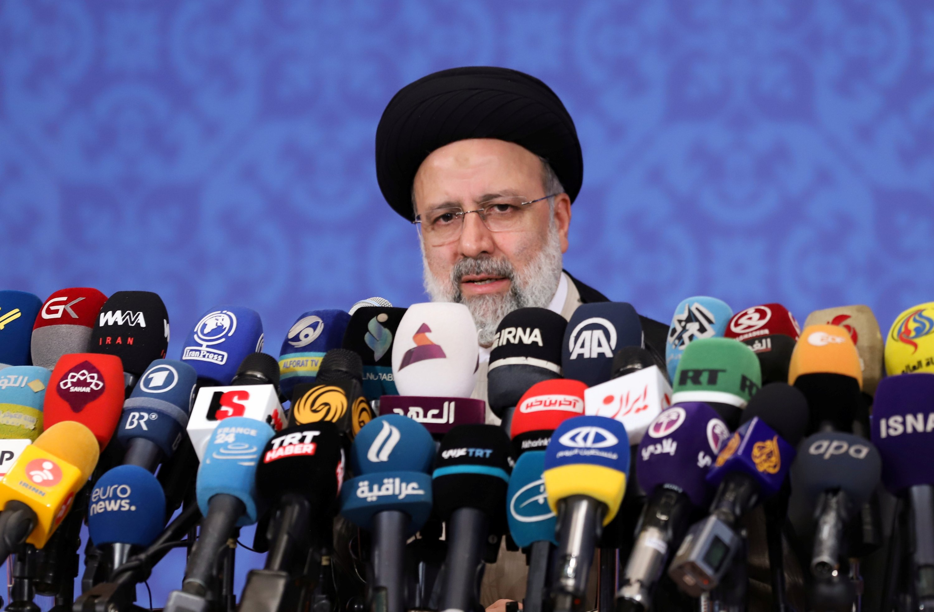 Iran's President-elect Ebrahim Raisi speaks during a news conference in Tehran, Iran, June 21, 2021. (REUTERS Photo)
