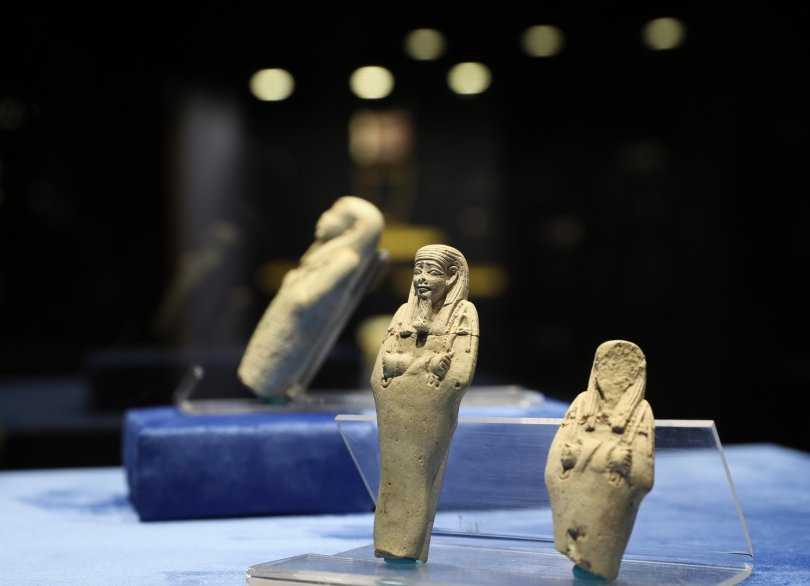 Ushabti figurines at Izmir Archaeological Museum, Izmir, Turkey, Sept. 17, 2021. (AA Photo)