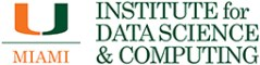 University of Miami Institute of Data Science and Computing website page header