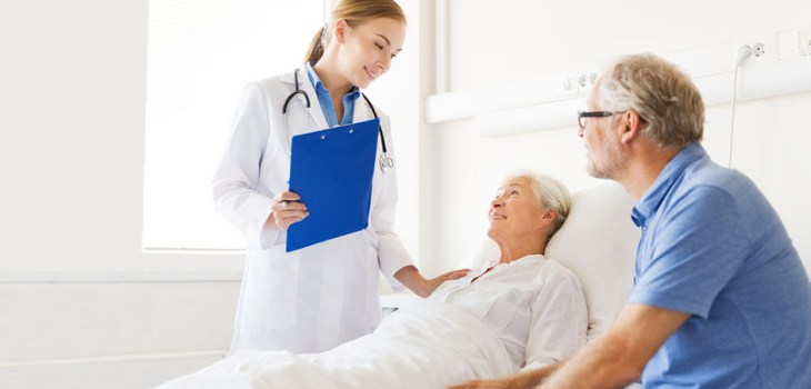 doctor caring for elderly patient