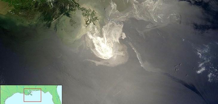 NASA image of Deepwater Horizon oil spill
