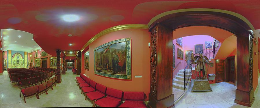 Interior shot of Nuestra Senora de la Merced Chapel, Allapattah, Miami