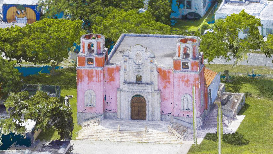 point cloud by University of Miami Institute for Data Science and Computing (IDSC) Software Engineering Team of Nuestra Señora de la Merced Chapel at Corpus Christi Catholic Church Allapattah, Miami for Karen Mathews, Department of Art and Art History