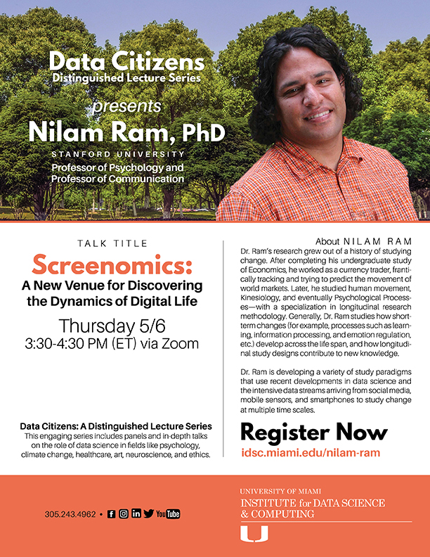 Nilam Ram FLYER for Data Citizens lecture series