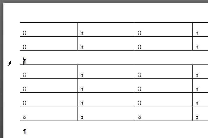 dzielenie tabeli Word etap 2