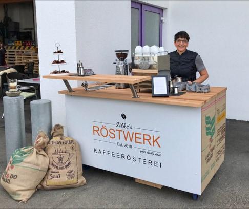 Coffee Cart mit Fairtrade Kaffee