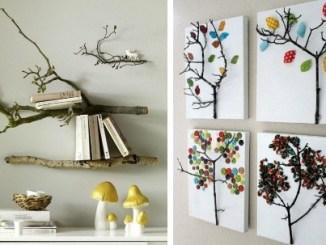 Hiasan Dinding Kreatif Dengan Barang Bekas