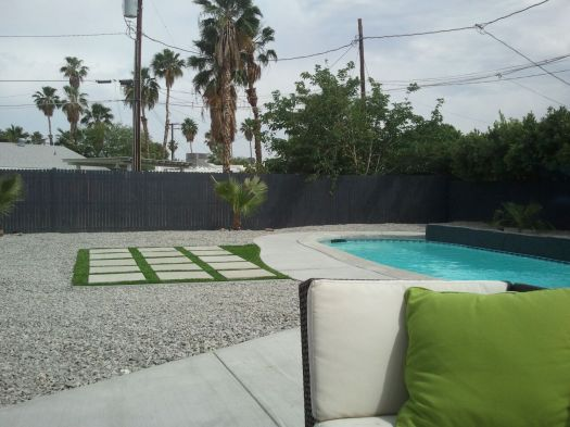 The lovely pool deck all finished