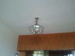 Awesome Chandelier and Paneling - Before