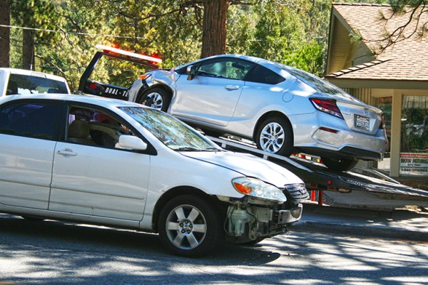 Car crashes into parked vehicle in town • Idyllwild Town Crier