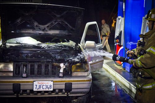 Car fire in Pine Cove Wednesday night • Idyllwild Town Crier
