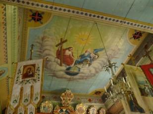 Przysłup wnętrze cerkwi - sufit