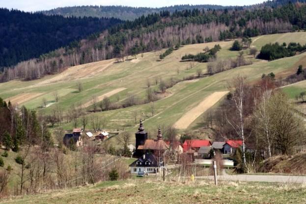 Banica - widok na wieś, 2015r.
